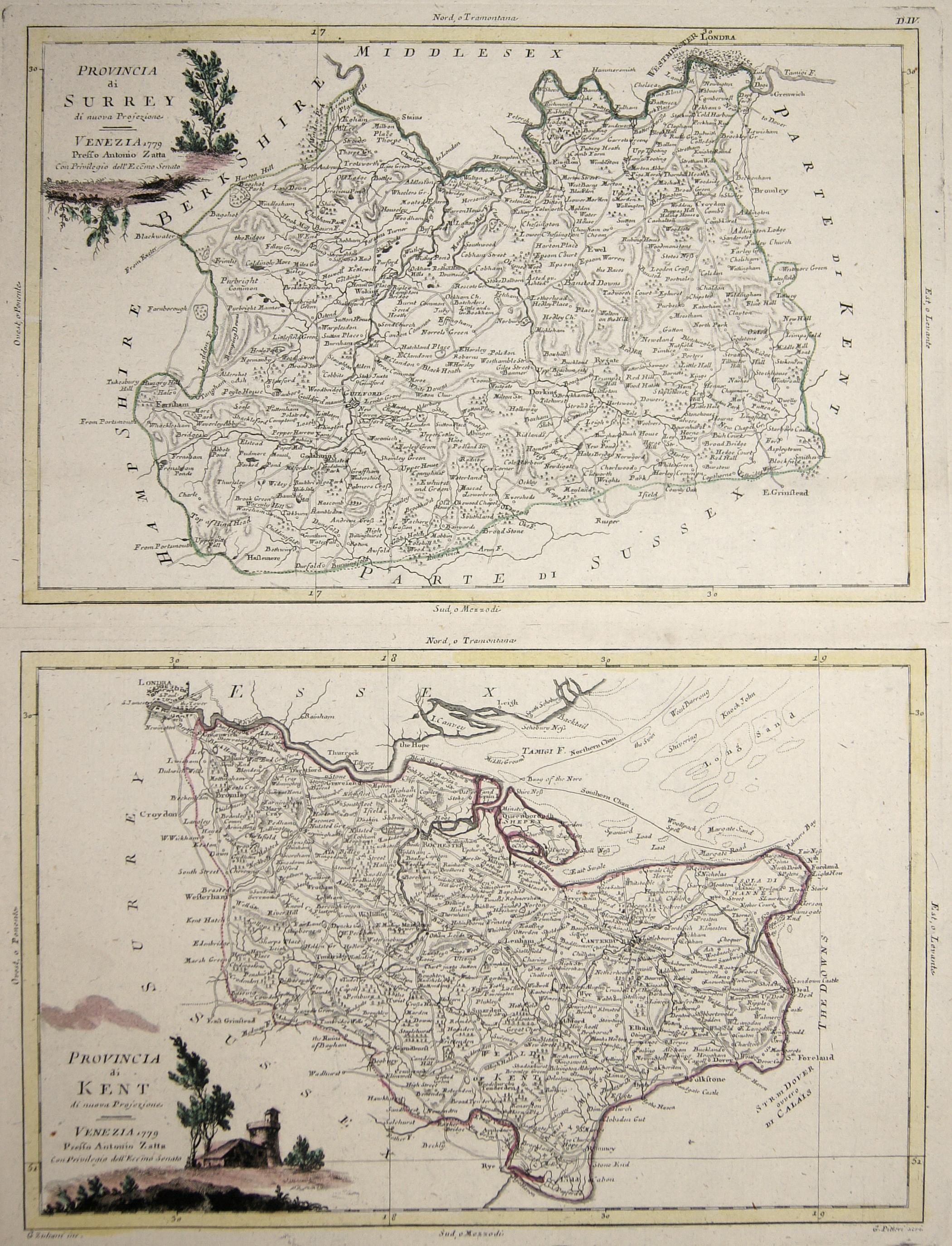 Zatta Antonio Provincia di Surrey / Provincia di Kent