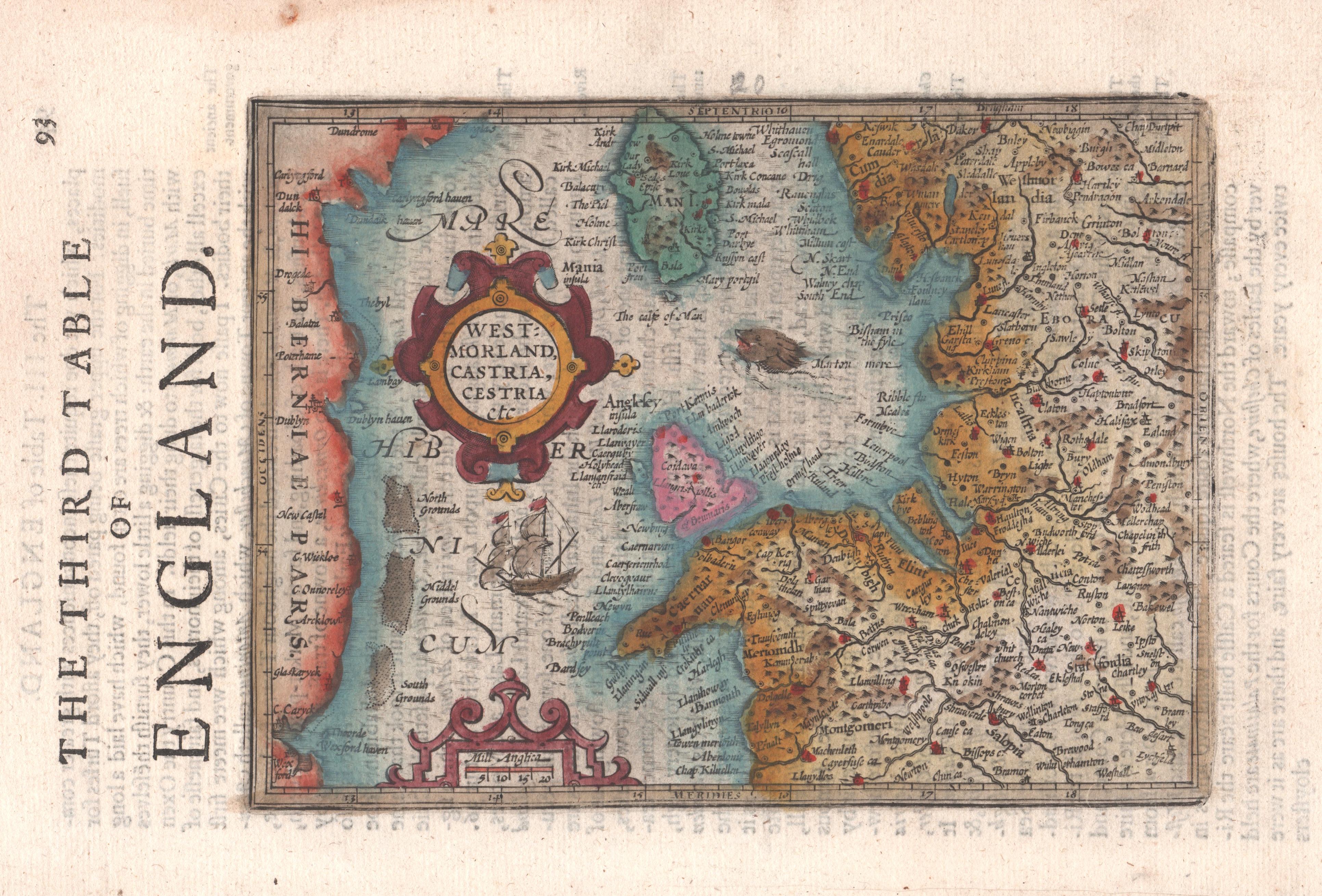 Sparke  The third table of England. / Westmorland, Castria, Cestria etc