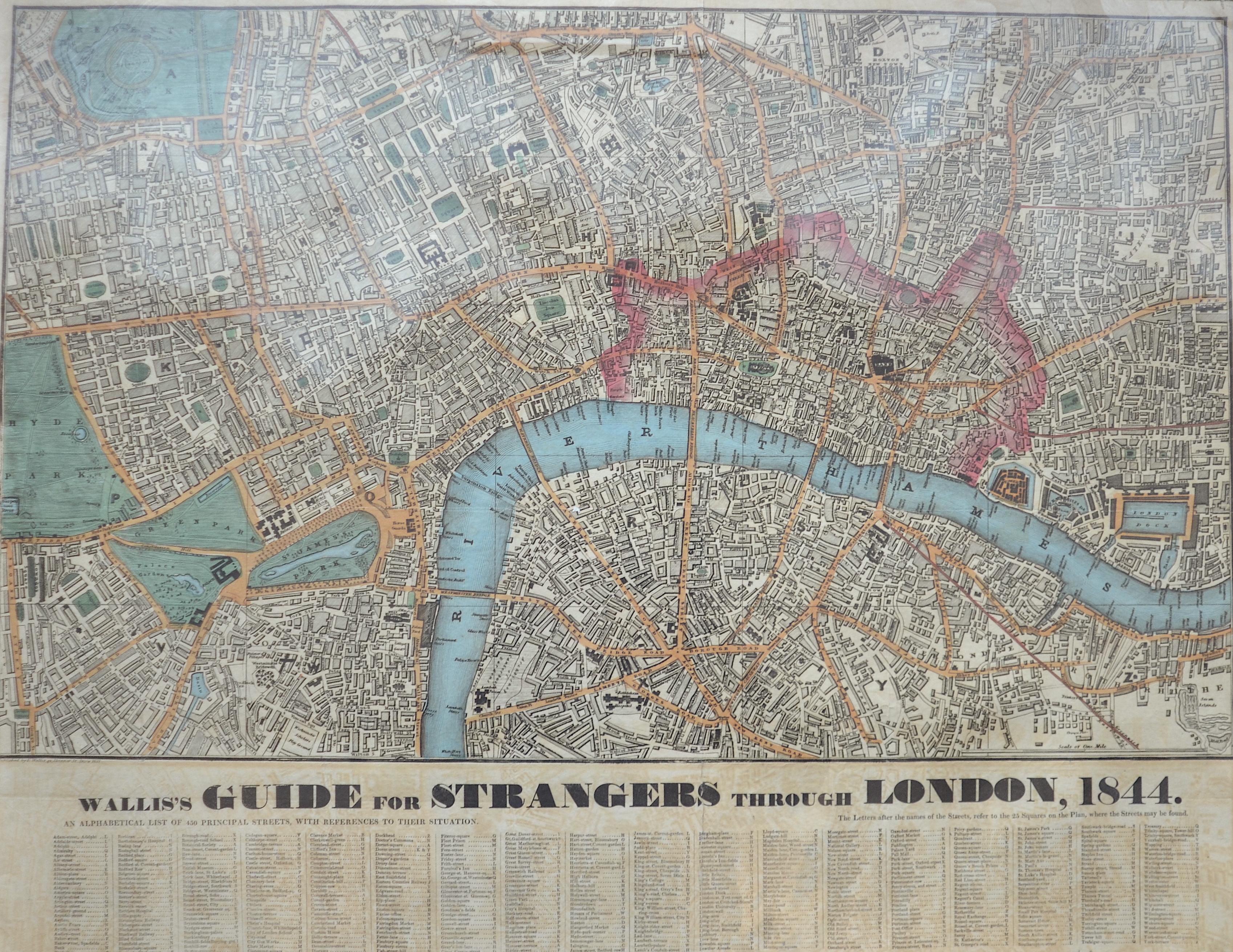 Wallis  Wallis's Guide for Strangers through London, 1844.