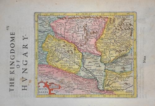 Hondius/Sparke Joducus The Kingdom of Hungary