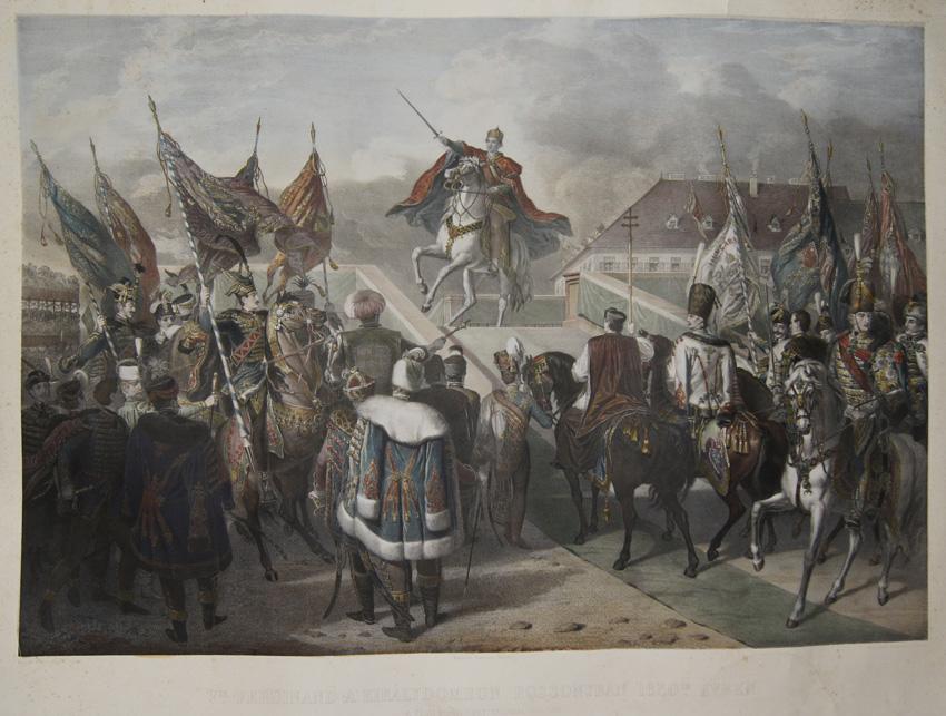 Lemercier / Levasseur  Vik. Ferdinand a'Kiralydombon Pozsonyban 1830 ik. Euben