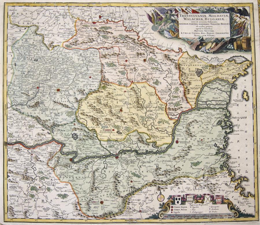 Seutter Matthias Transylvaniae, Moldaviae, Walachiae, Bulgariae…