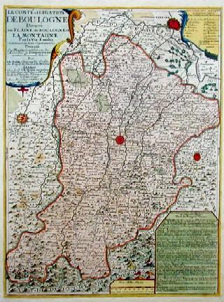 Nolin Jean Baptiste Le compte et legation de Boulogne Divisee en Plaine de Boulogne et la Montagne Par la Via Emelia..