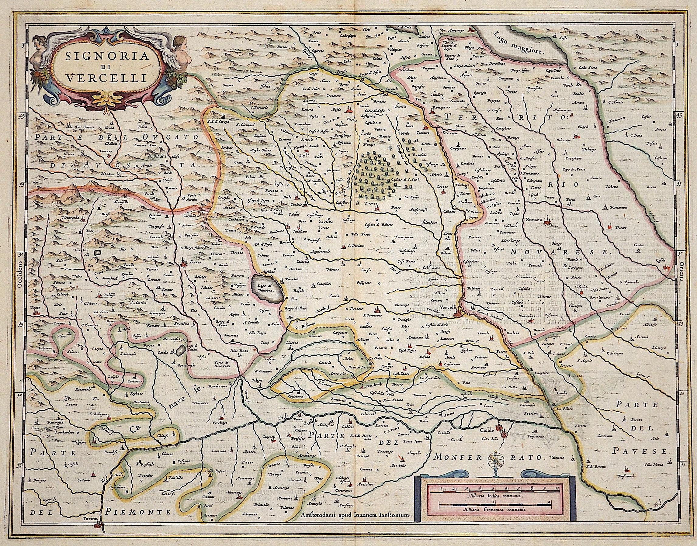 Janssonius Johann Signoria di Vercelli
