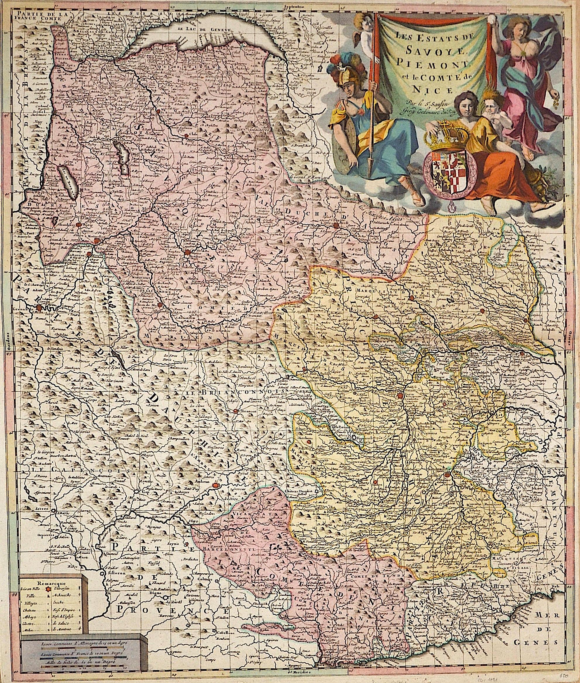 Sanson Nicolas Les Estats de Savoye, Piemont, et les copte de Nice