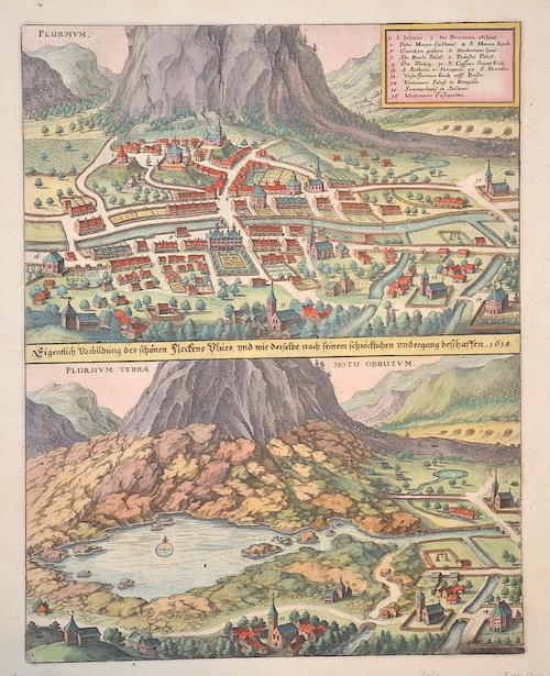 Merian Matthäus Eigentlich Vorbildung des schönen Fleckens Plurs, und wie der selbe nach seinem schröcklichen undergang geschaffen 1618