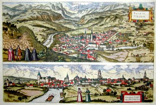 Braun/Hogenberg Franz/ Georg Brixia Tyrolis/ Laubinga Sveviae