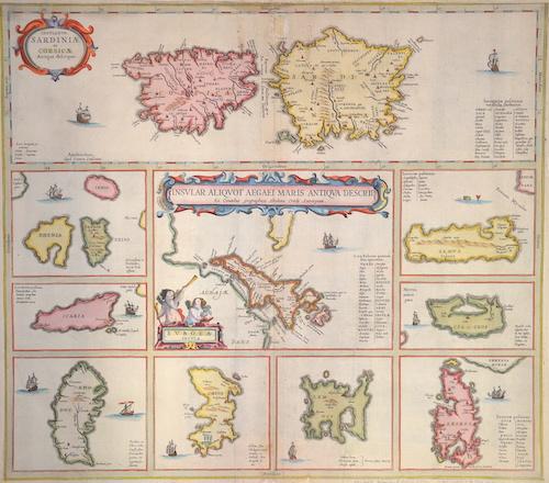 Janssonius  Insular Aliquot aegaei maris antiqua descrip.