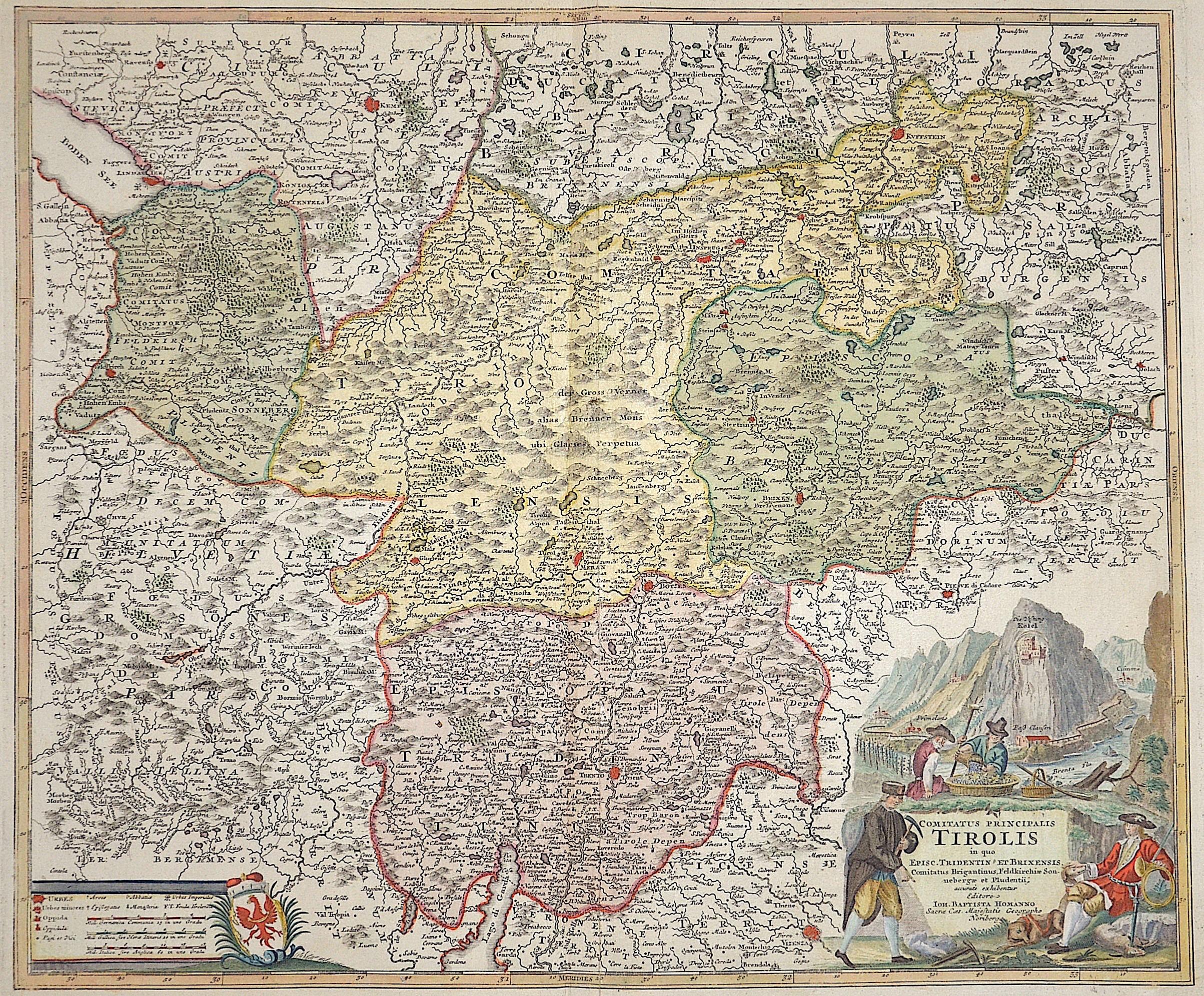 Homann Johann Babtiste Comitatus principalis Tirolis im quo Episc. Tridentin et Brixensis…….