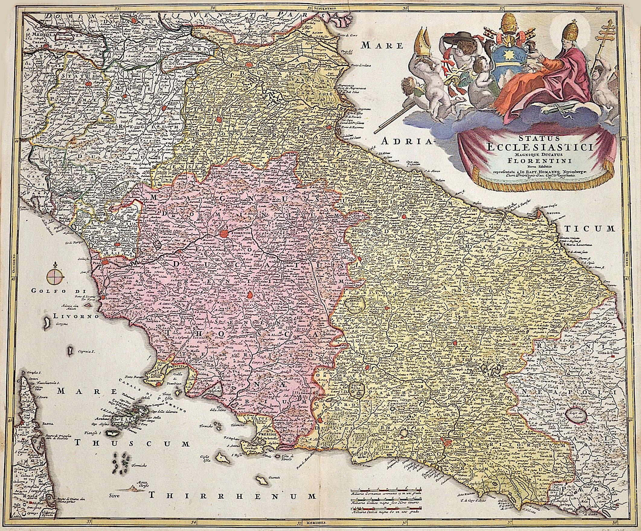 Homann  Status eccleseastici Magnique Ducatus Florentini