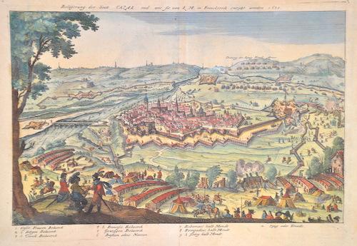 Merian  Belagerung der Stadt Casal und wie sie von K.M. in Frankreich enstzt worden 1630
