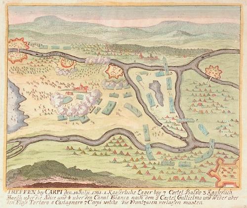 Anonymus  Treffen bey Carpi dem 10 Julii 1701….