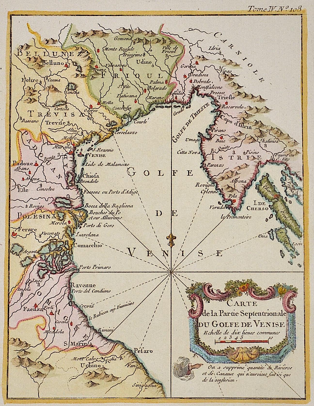 Bellin Jacques Nicolas Carte de la partie Septentrionale du Golfe de Venise