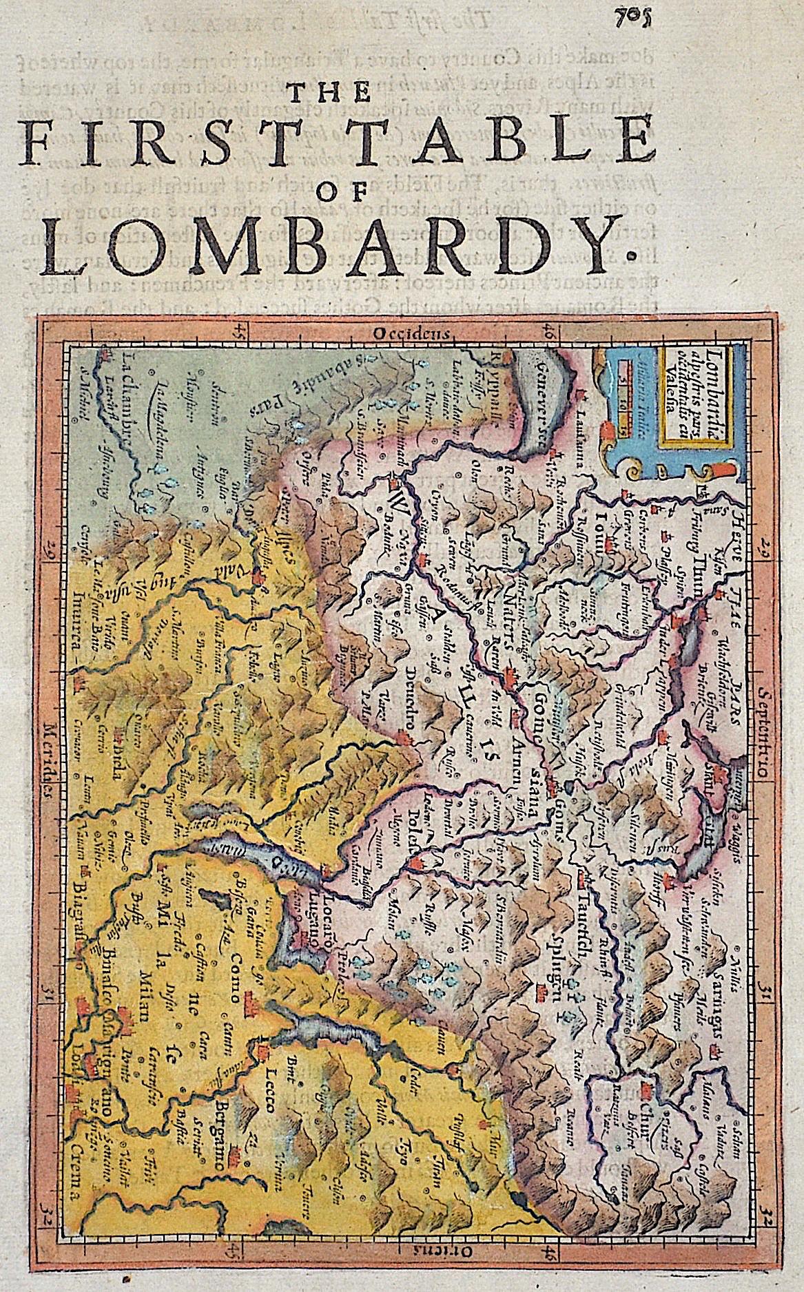 Mercator Gehard Lombardiae alpestris pars occidentalis cu Vallesia