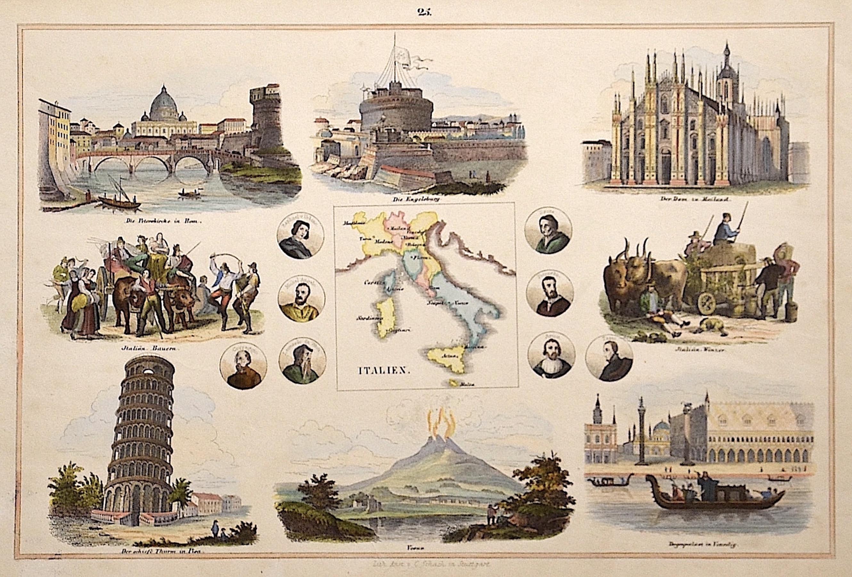 Schach Lithographische Anstalt C. Italien