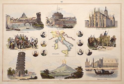 Schach Lithographische Anstalt  Italien