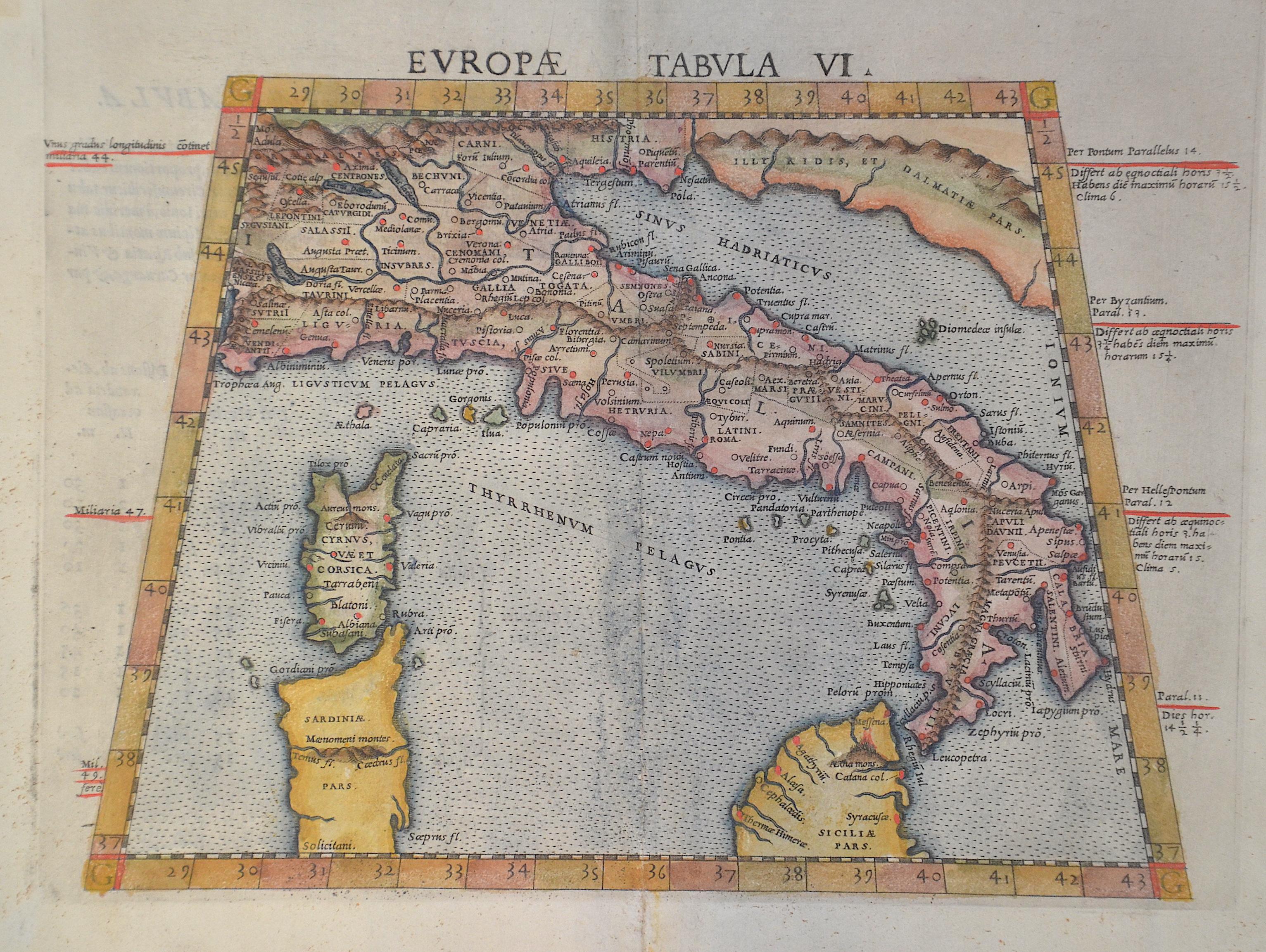 Ruscelli Girolamo Europae Tabula VI