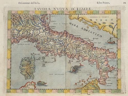 Ptolemy/ Ruscelli  Tavola nuova d´ Italia