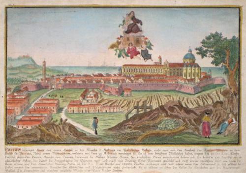 Eder  Loretto befestigte Stadt auf einem Hügel, in der Marka d´Ancona im Päbstlichen Gebiete…..
