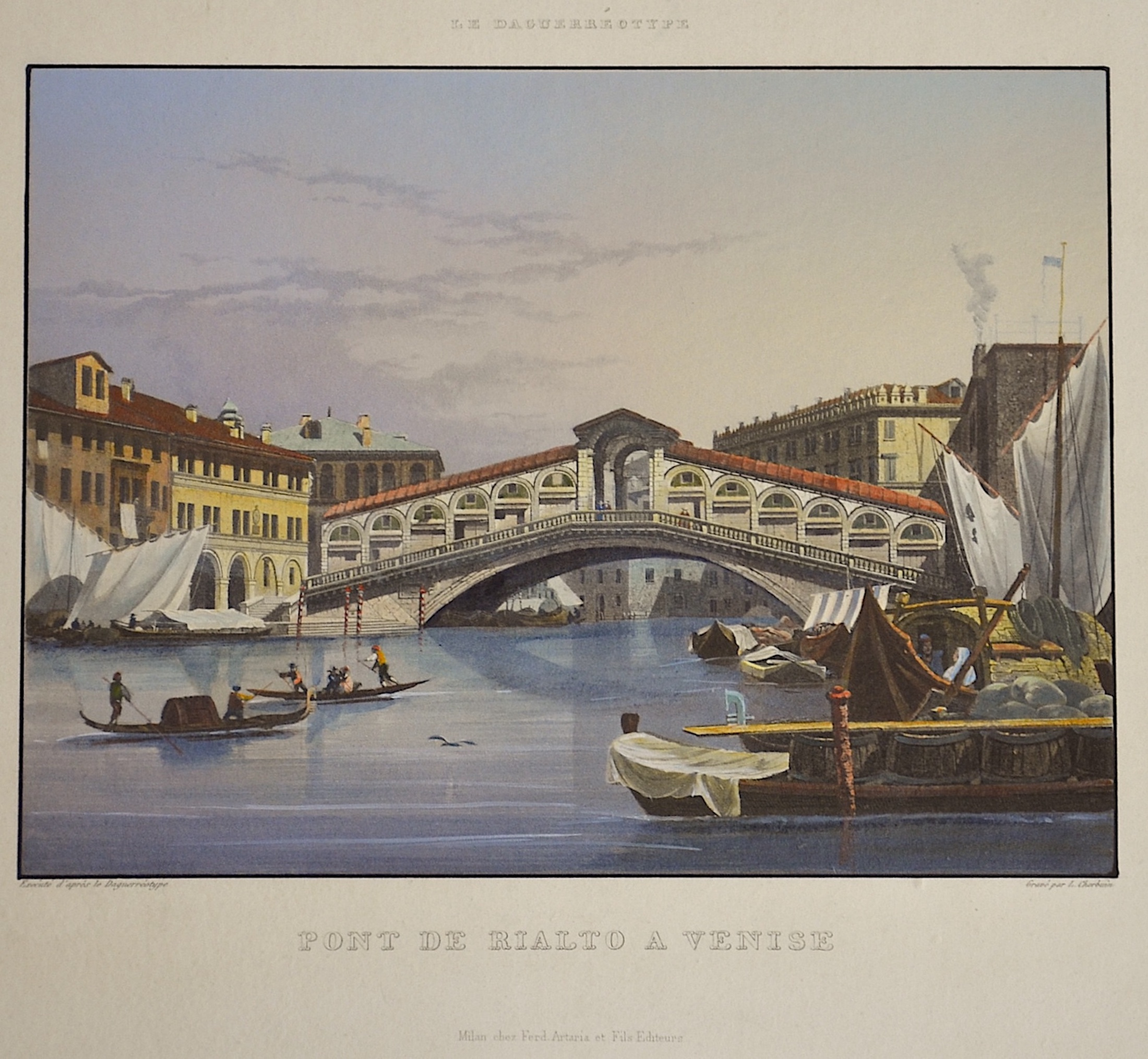 Cherbuin  Pont de Rialto a Venice