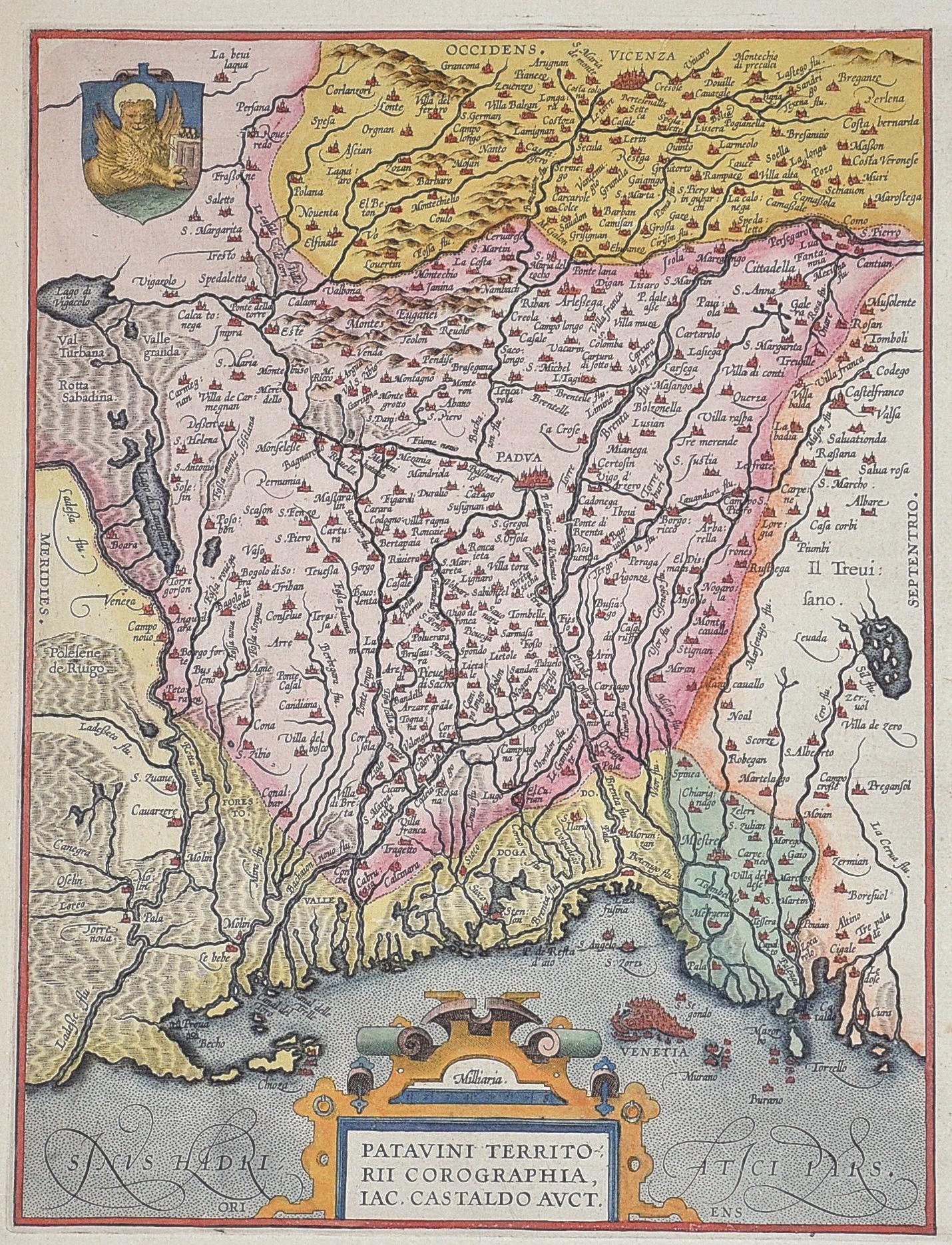 Ortelius Abraham Patavini territorii corographia, Iac. Castaldo Auct.