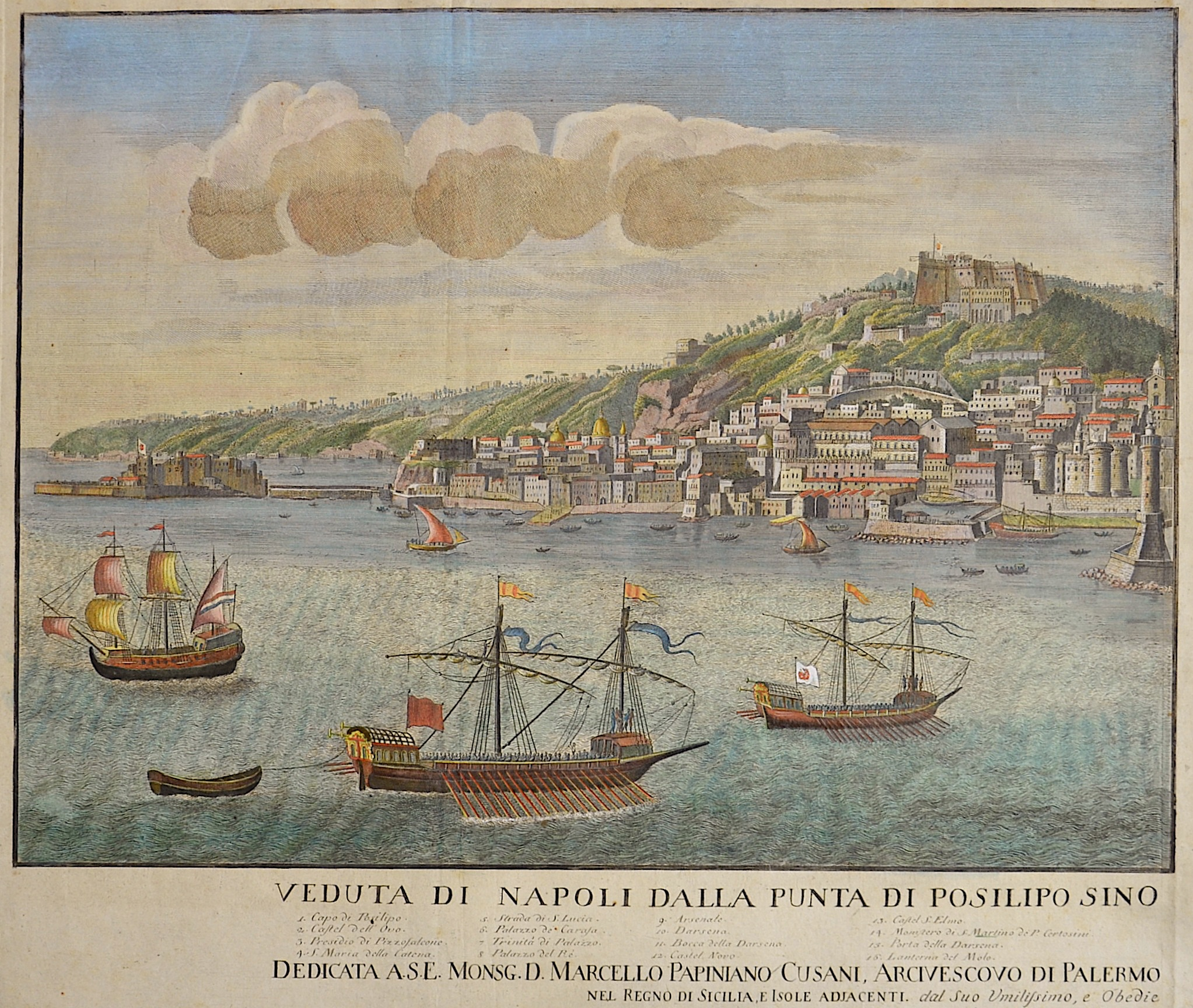 Aloja  Veduta di Napoli dalla Punta di Posilipo sino….
