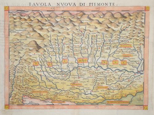 Ruscelli Girolamo Tavola nouva di Piemonte