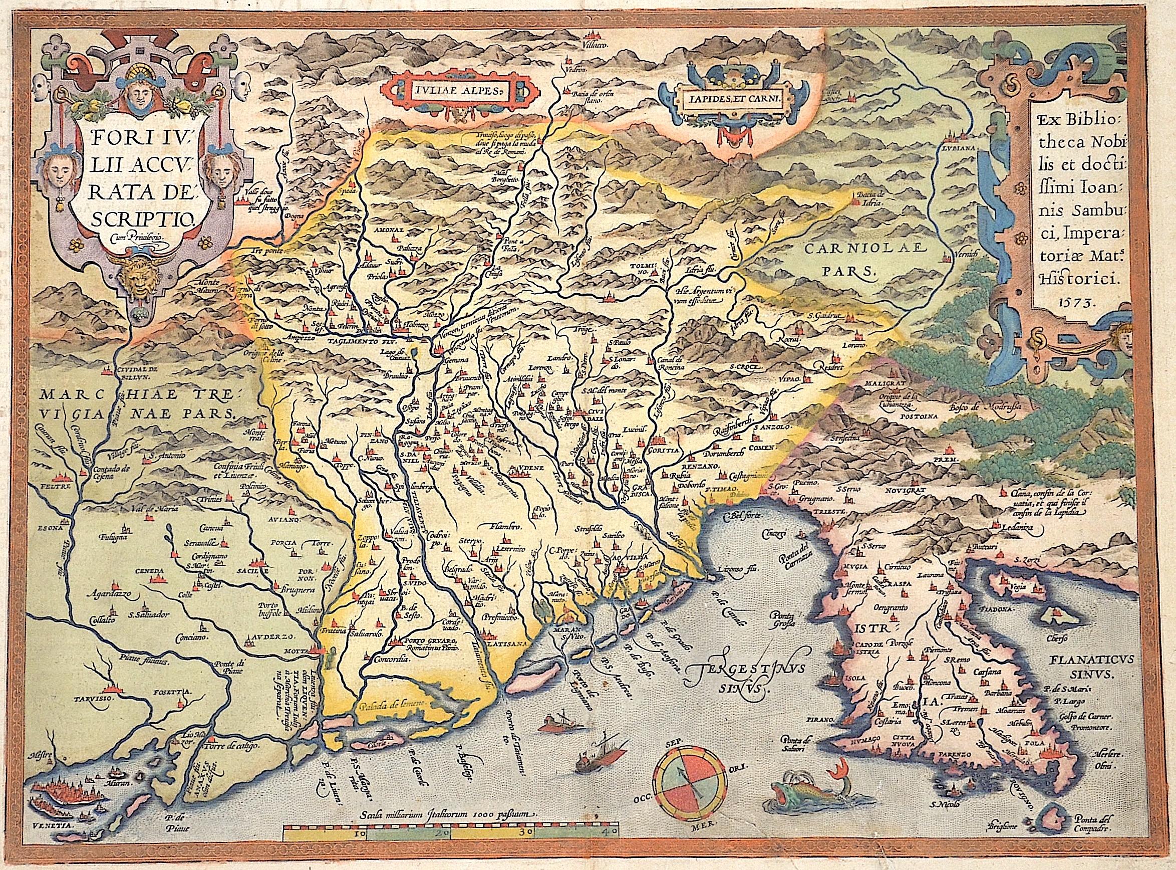 Ortelius  Fori Ivlii accurata description