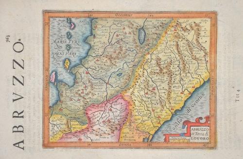 Hondius/Sparke Joducus Abruzzo et Terra di Lovoro