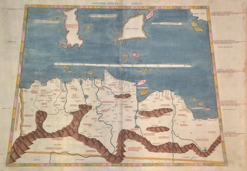 Ptolemy/Conrad Sweynheym Claudius Sacunda Africae Tabula