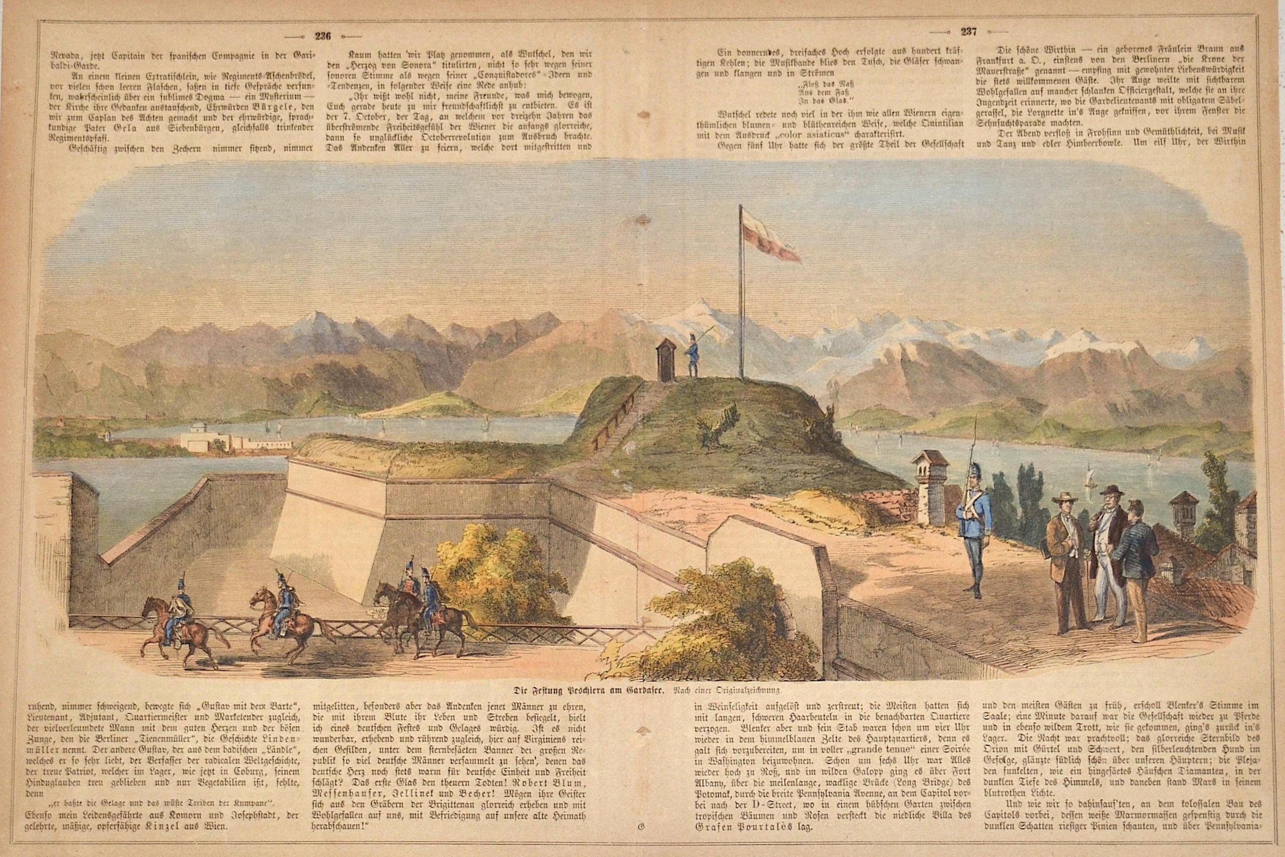 Anonymus  Die Festung Peschira am Gardasee