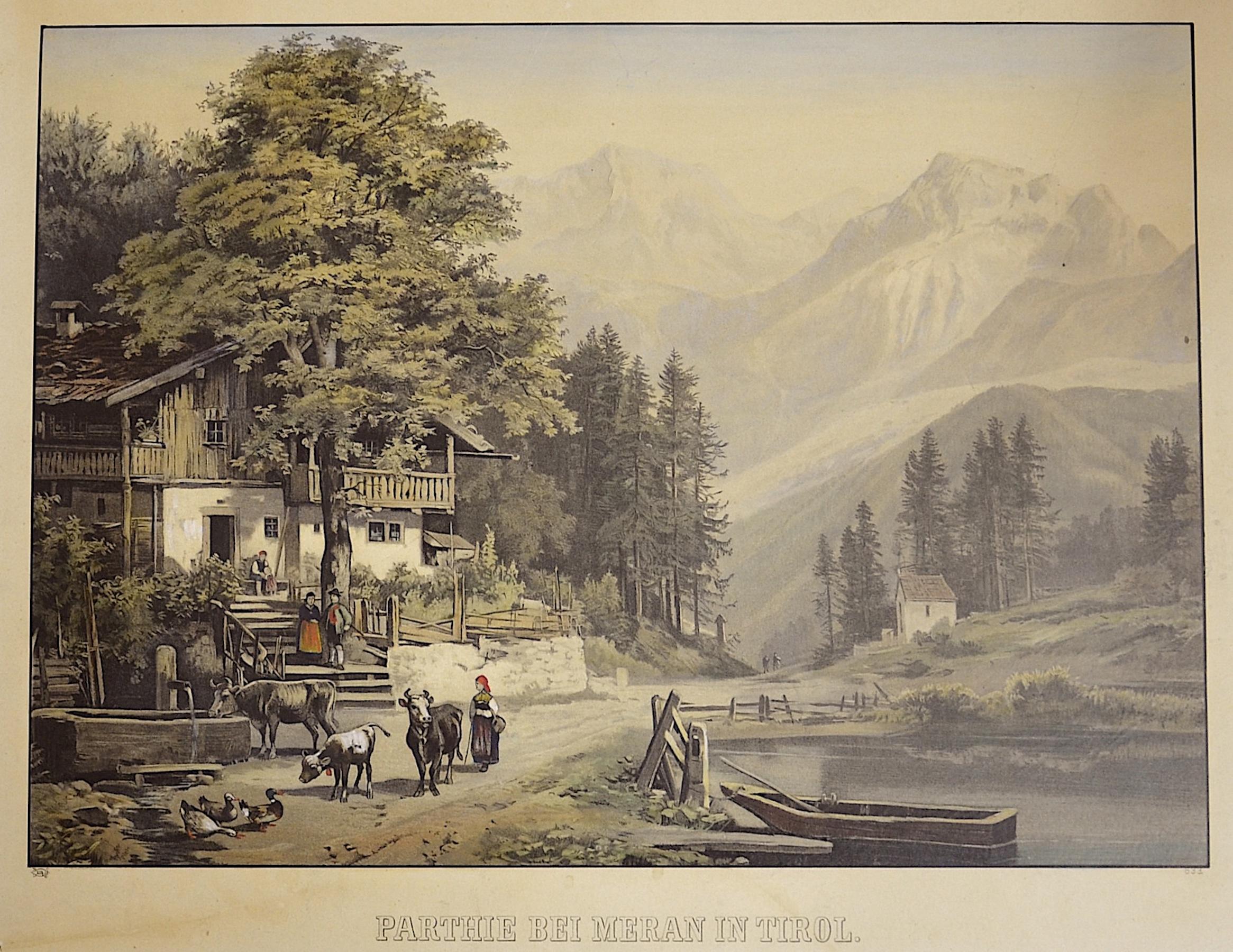 Anonymus  Parthie bei Meran in Tirol.