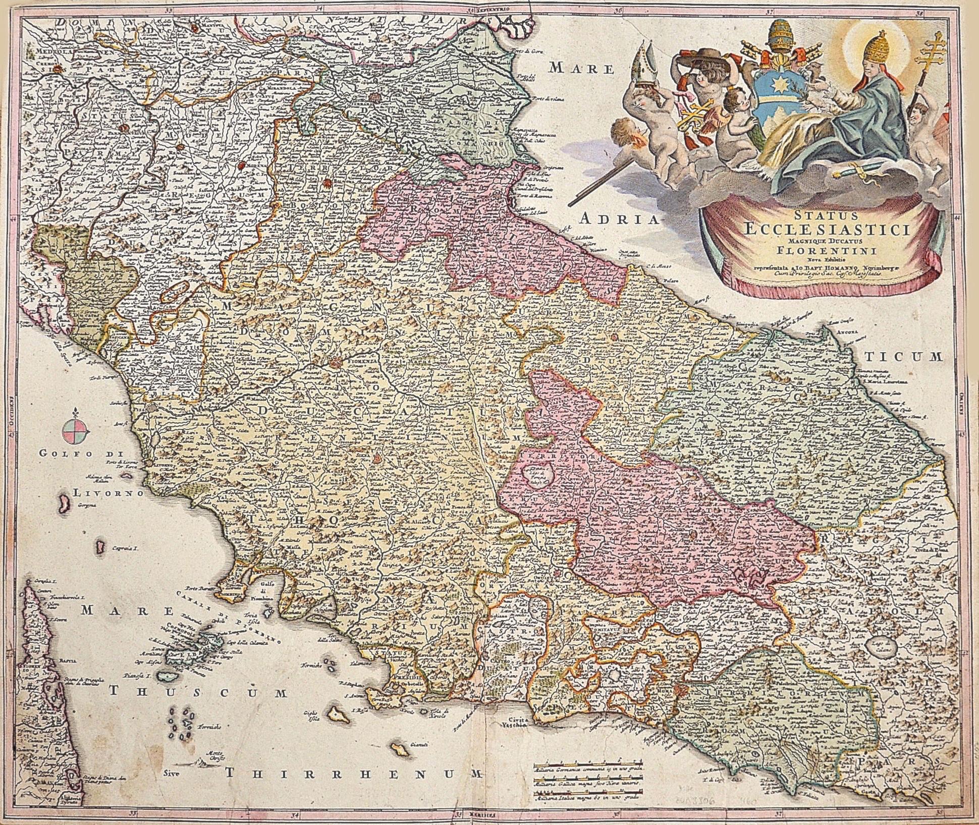 Homann  Status Ecclesiastici magnique ducatus Florentini