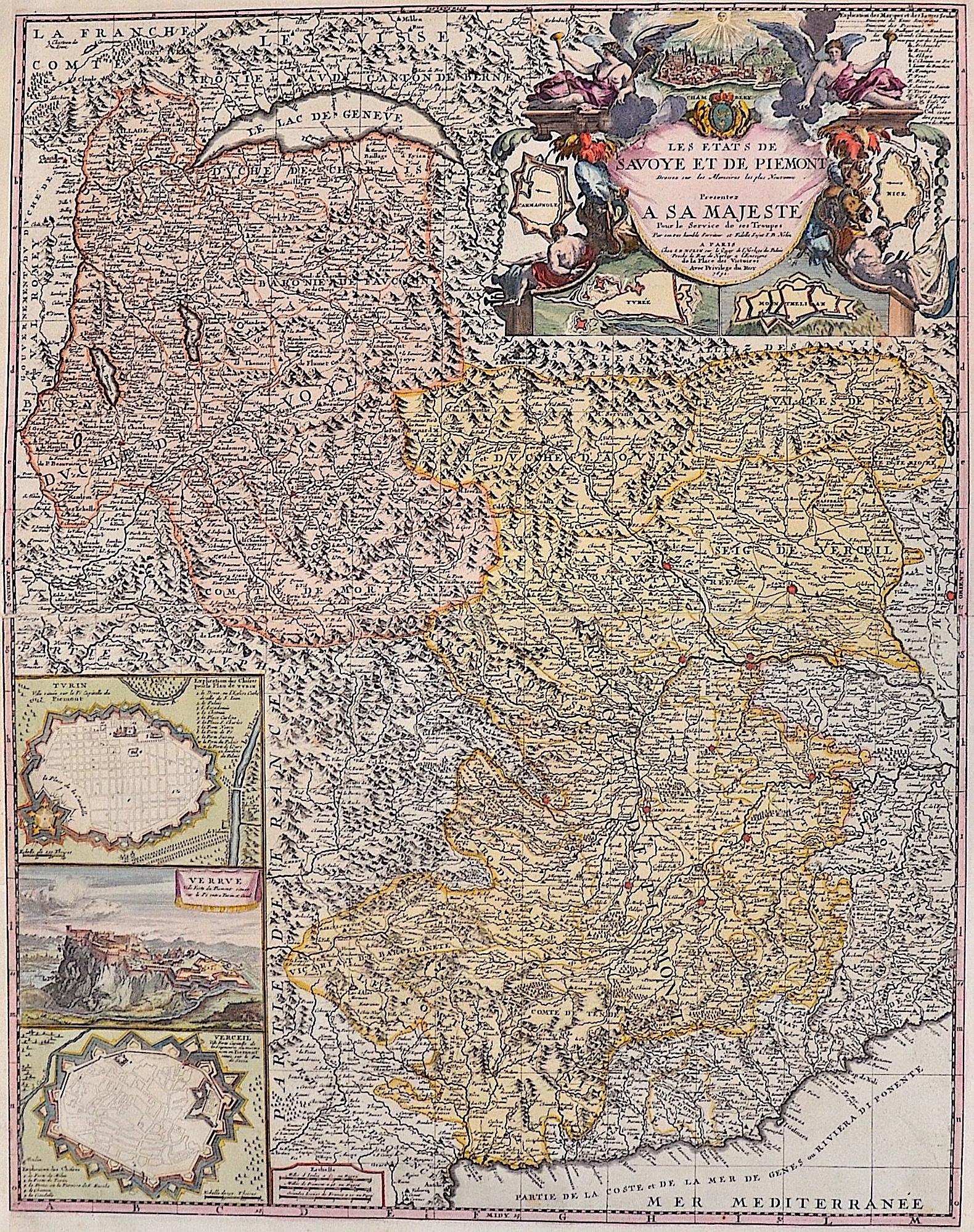 Nolin Jean Baptiste Les Etats de Savoye et de Piemont