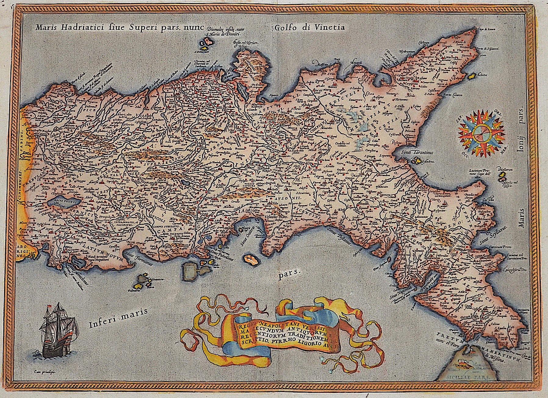 Ortelius  Regni Neaploitani … Descriptio