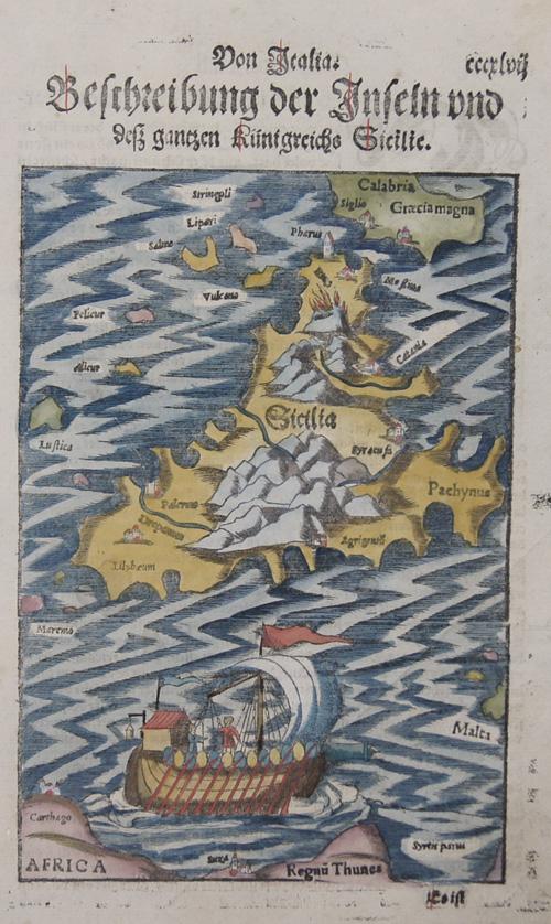 Münster Sebastian Von Italia, Beschreibung der Inseln und des ganzen Königreichs Sicilie