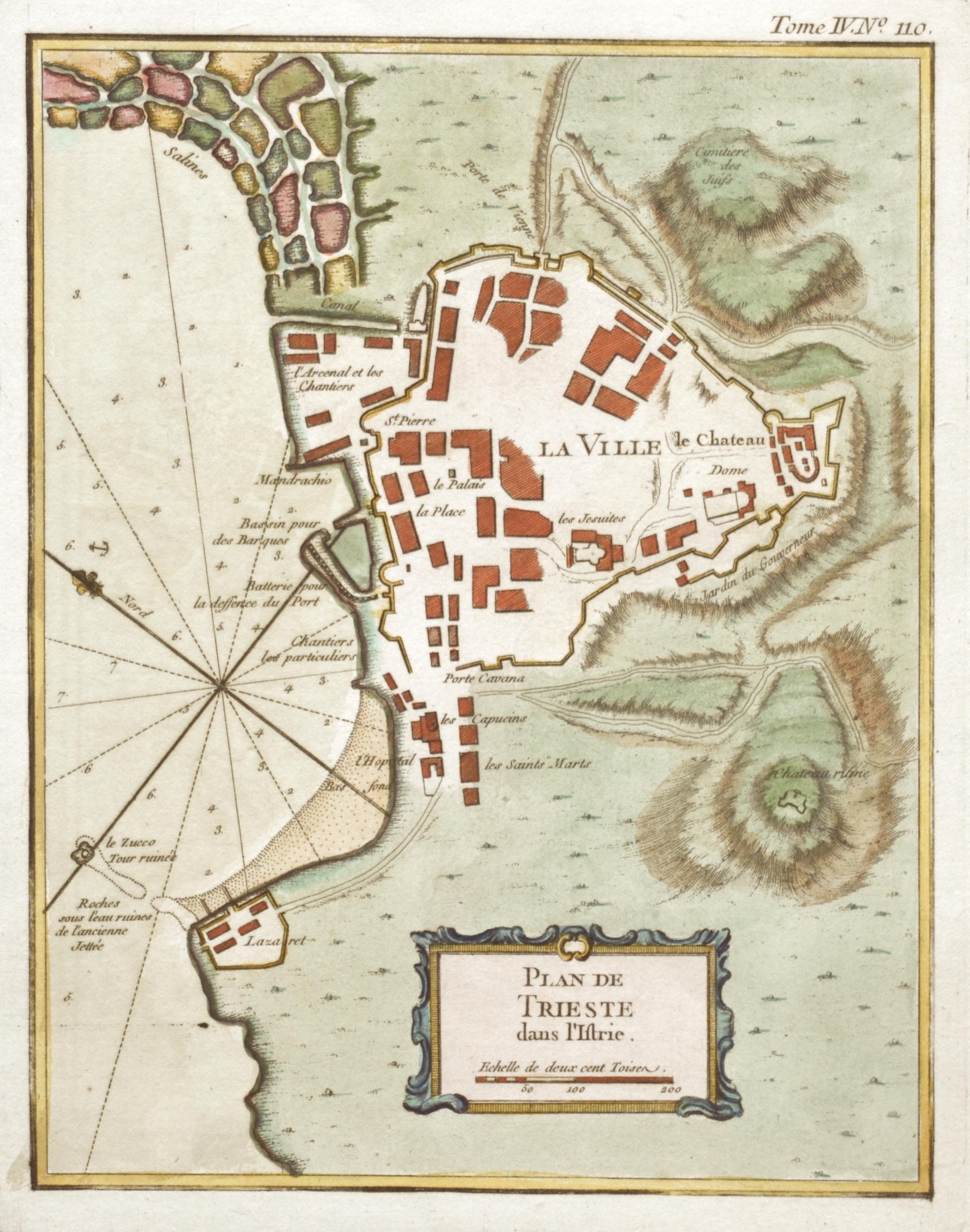 Bellin  Plan de Trieste dans l'Istrie.