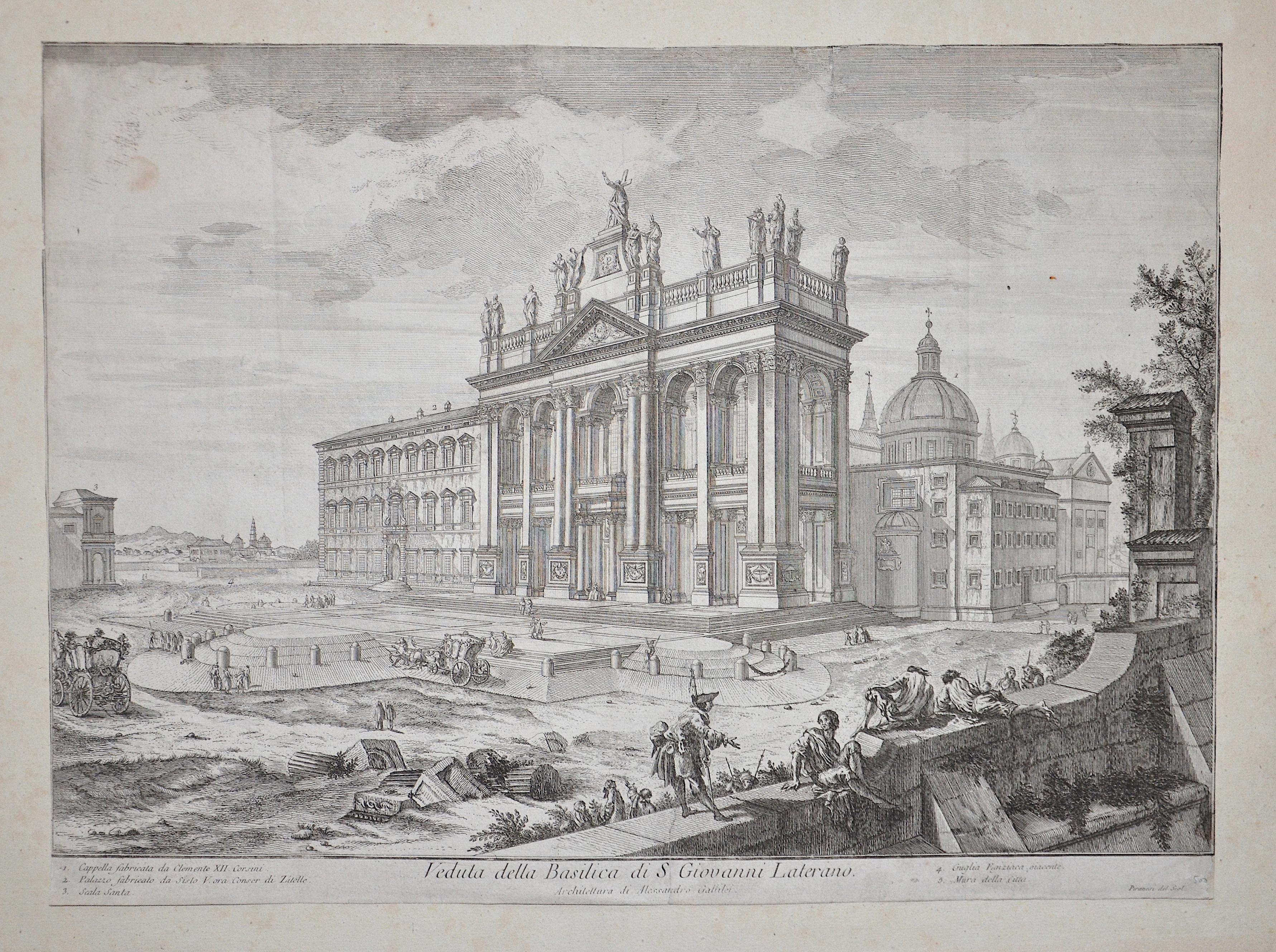 Piranesi Francesco Veduta della Basilica di S Giovanni Laterano.