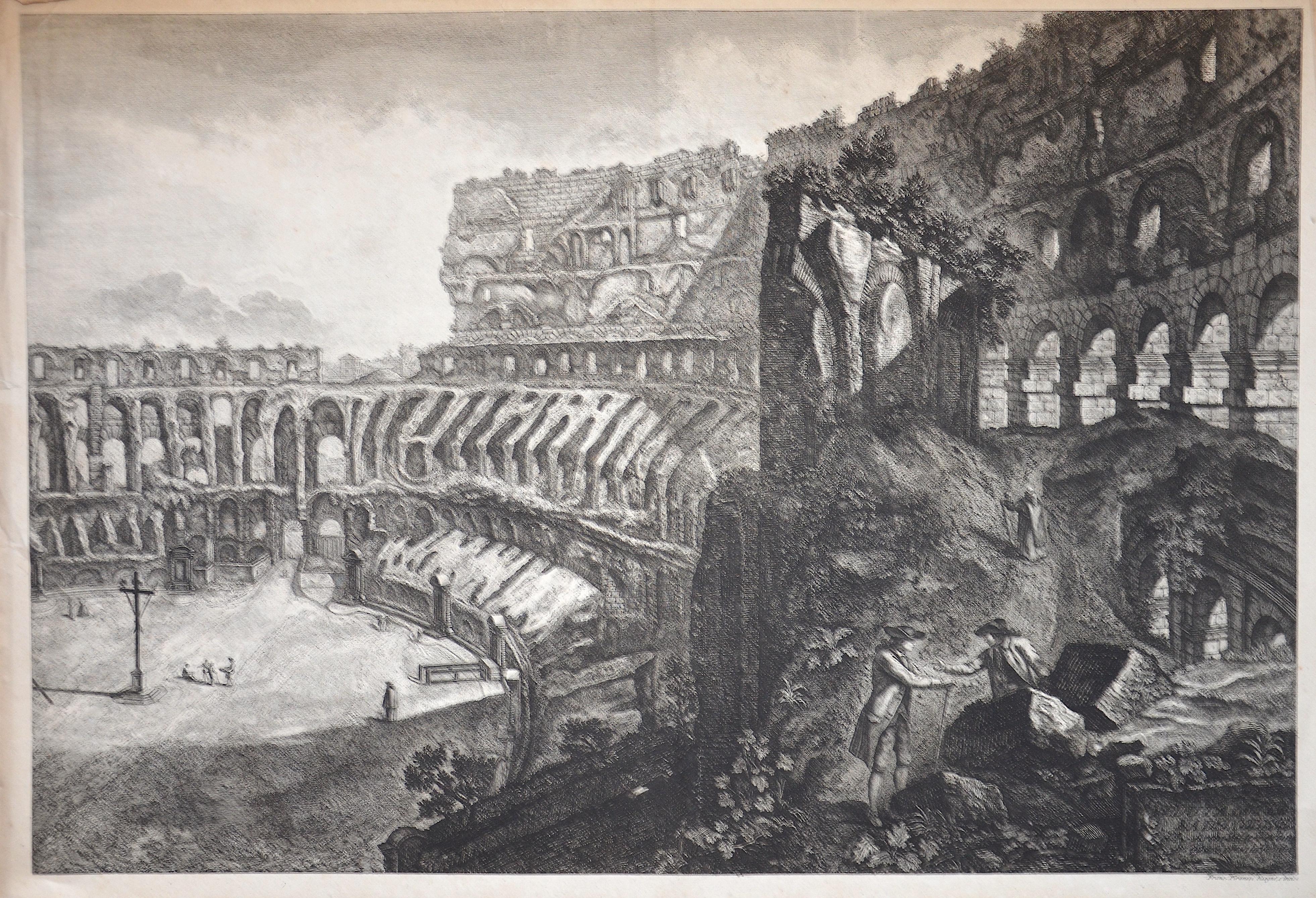 Piranesi  Veduta Interna del Colosseo