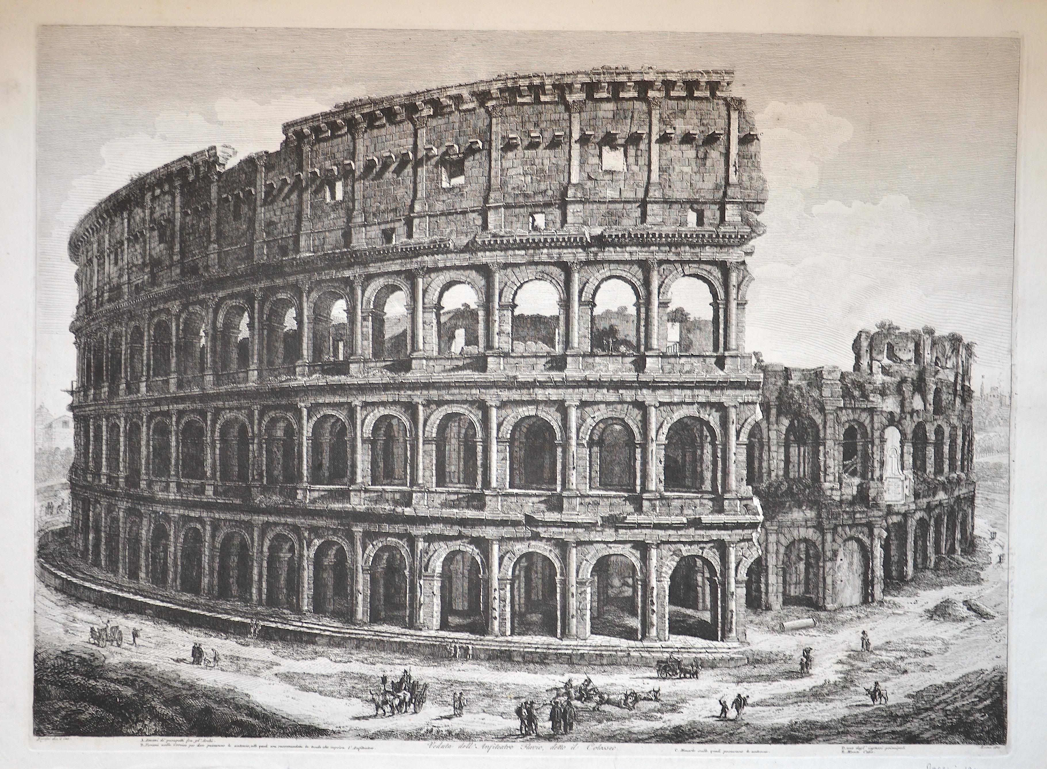 Rossini Luigi Veduta dell Anfiteatro Flavio, detto il Colosseo.