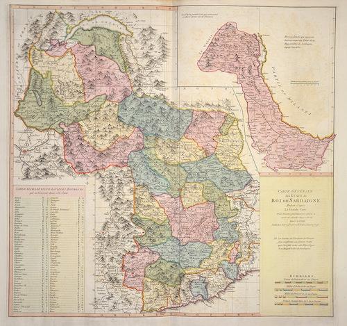 Faden William Carte Géneral de Etats du Roi de Sardaigne