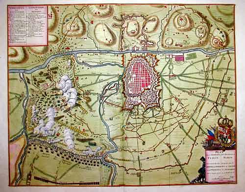 Anonymus  Plan von de Veldslag by Turin…