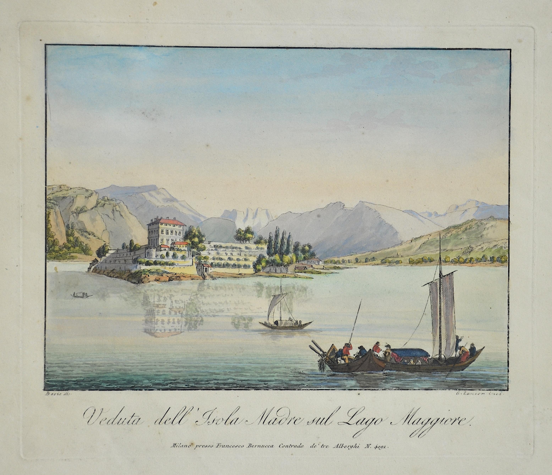 Bernucca  Veduta dell' Isola Madre sul Lago Maggiore.