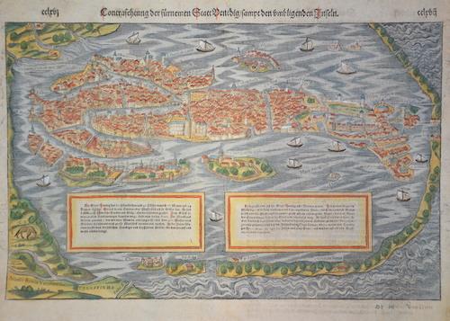 Münster  Contrafehtum der fürnemen Statt Venedig/ samt den umligenden inseln