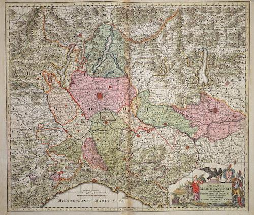 Seutter Matthias Ducatus Mediolnensis cum adjacentibus Principat et dominiis…