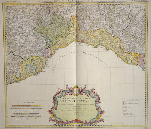 Homann Erben  Mappa Geographica status Genuenesis