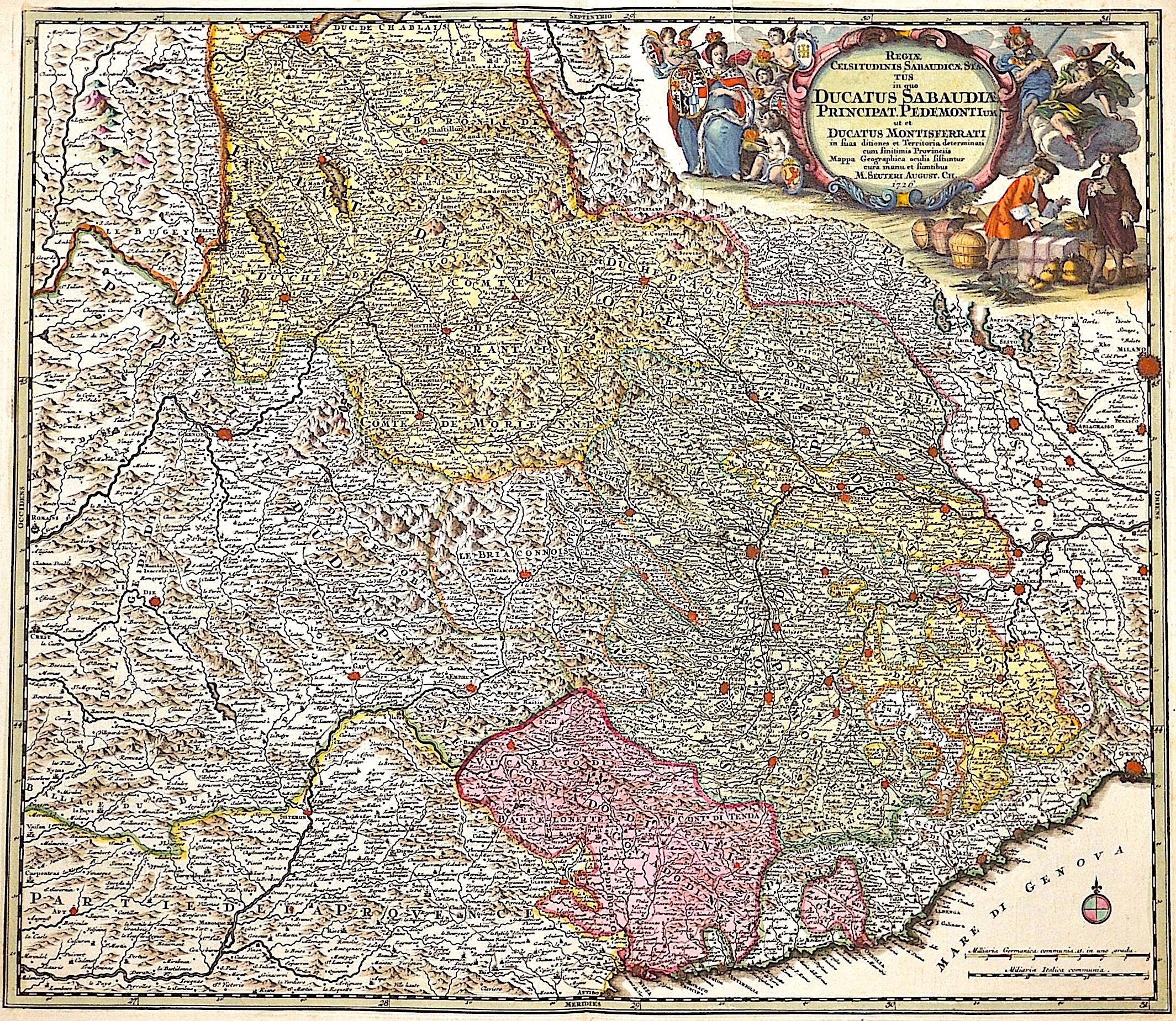 Seutter Matthias Regiae Celsitudinis Sabaudicae, status in quo ducatus Sabaudiae Principat. Pedemontium ut et ducatus Montesferrati