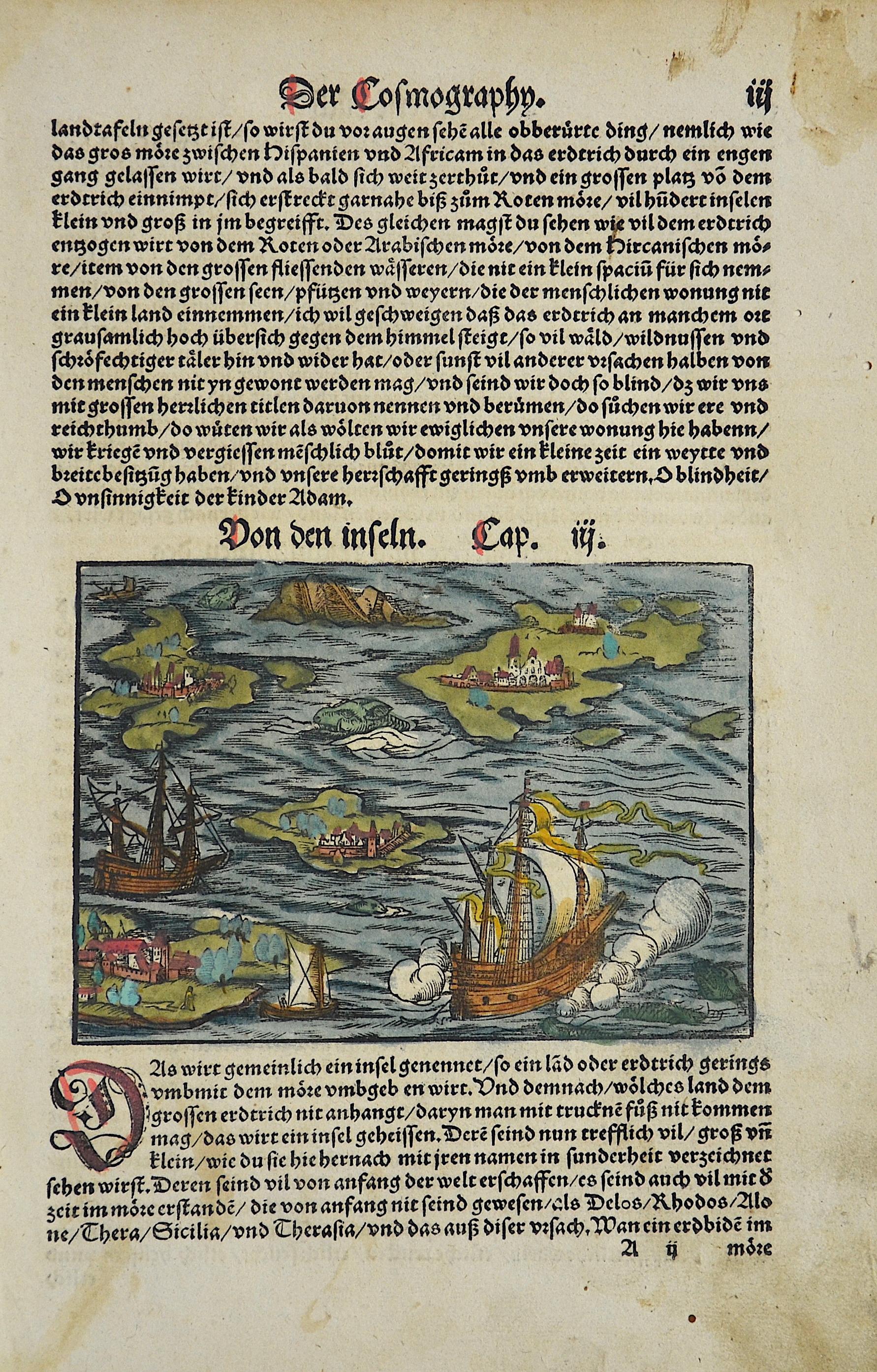 Münster Sebastian Der Cosmographen, von den Inseln