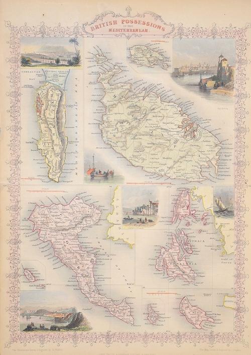 Tallis  British Possessions in the Mediterraneam