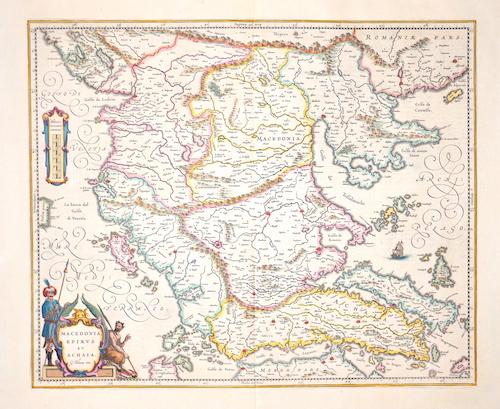 Blaeu  Macedinia, Epirus et Achaia